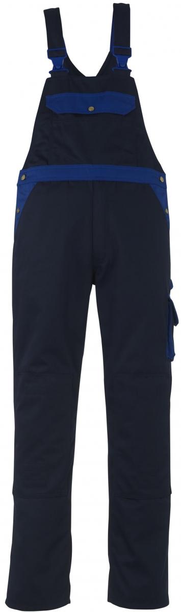 MASCOT-Workwear, Arbeits-Berufs-Latz-Hose, Milano, 82 cm, 310 g/m², marine/kornblau