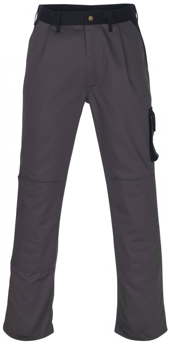 MASCOT-Workwear-Bundhose, Arbeits-Berufs-Hose, TORINO, Lg. 90 cm, MG310, anthrazit/schwarz