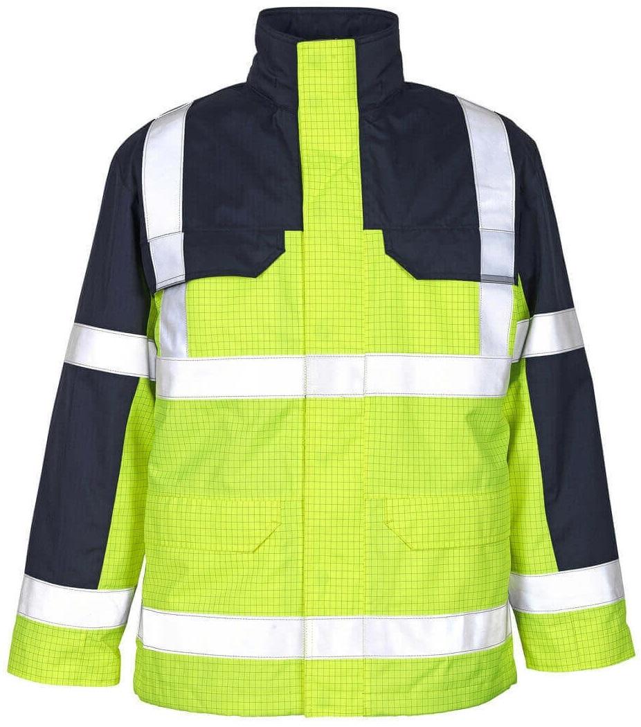 MASCOT-Workwear, Warnschutz-Jacke, Lungern,  230 g/m², gelb/marine
