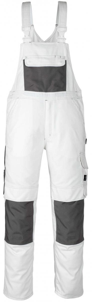 MASCOT-Workwear, Arbeits-Berufs-Latz-Hose, Orense, 82 cm, 310 g/m², weiß