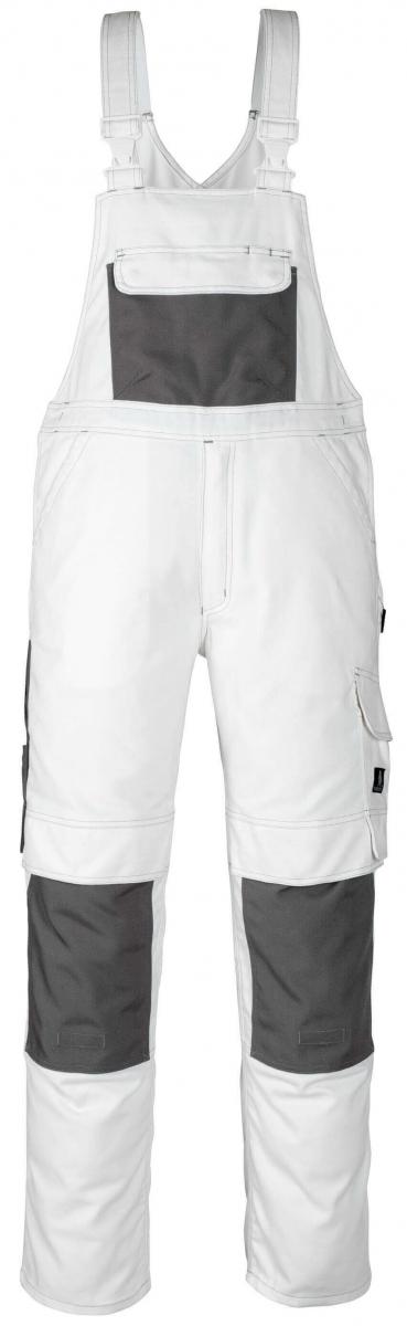 MASCOT-Workwear, Arbeits-Berufs-Latz-Hose, Orense, 90 cm, 310 g/m², weiß