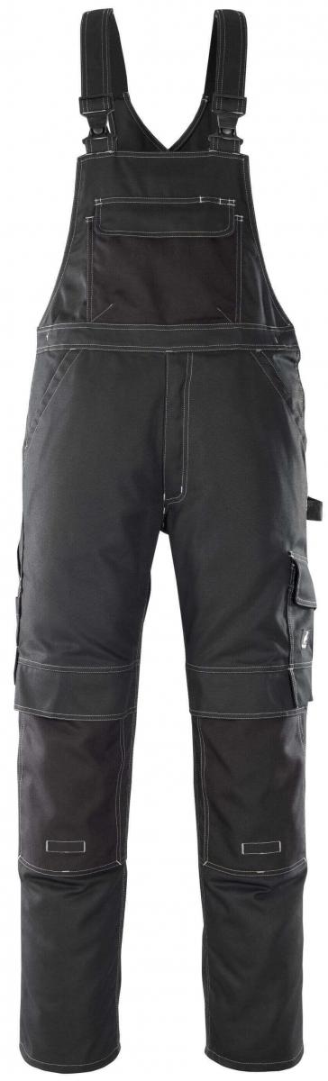 MASCOT-Workwear, Arbeits-Berufs-Latz-Hose, Orense, 82 cm, 310 g/m², schwarz
