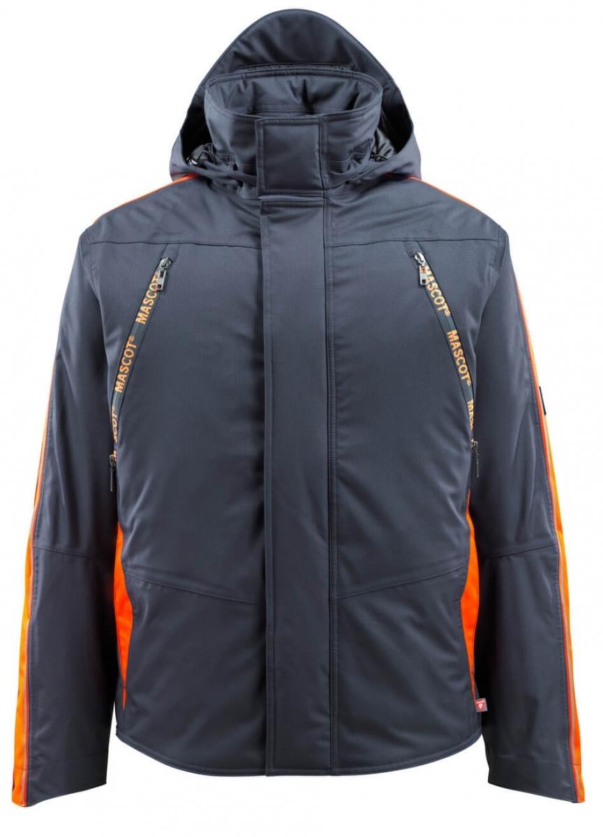 MASCOT-Workwear-Winter-Piloten-Arbeits-Berufs-Jacke, TOLOSA, schwarzblau/orange