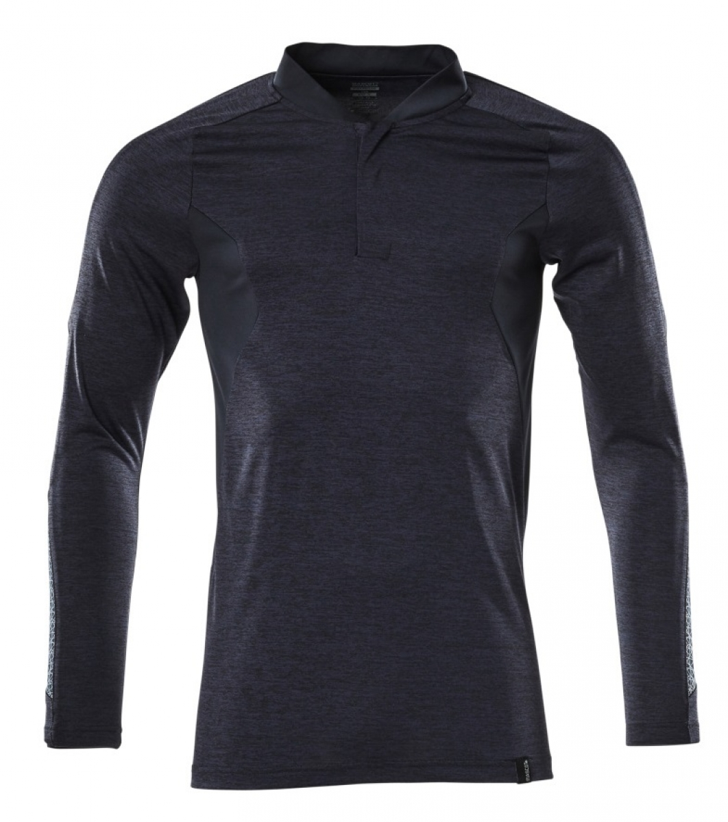 MASCOT-Polo-Shirt, langarm, ACCELERATE, 230 g/m², schwarzblau