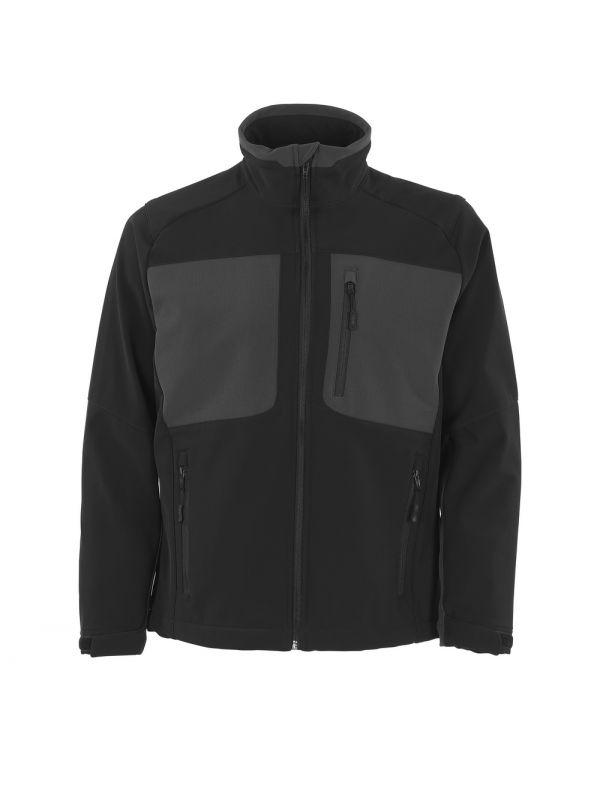 MASCOT-Workwear-Soft Shell Winter-Arbeits-Berufs-Jacke, LAGOS, 280 g/m², schwarz/dunkelanthrazi