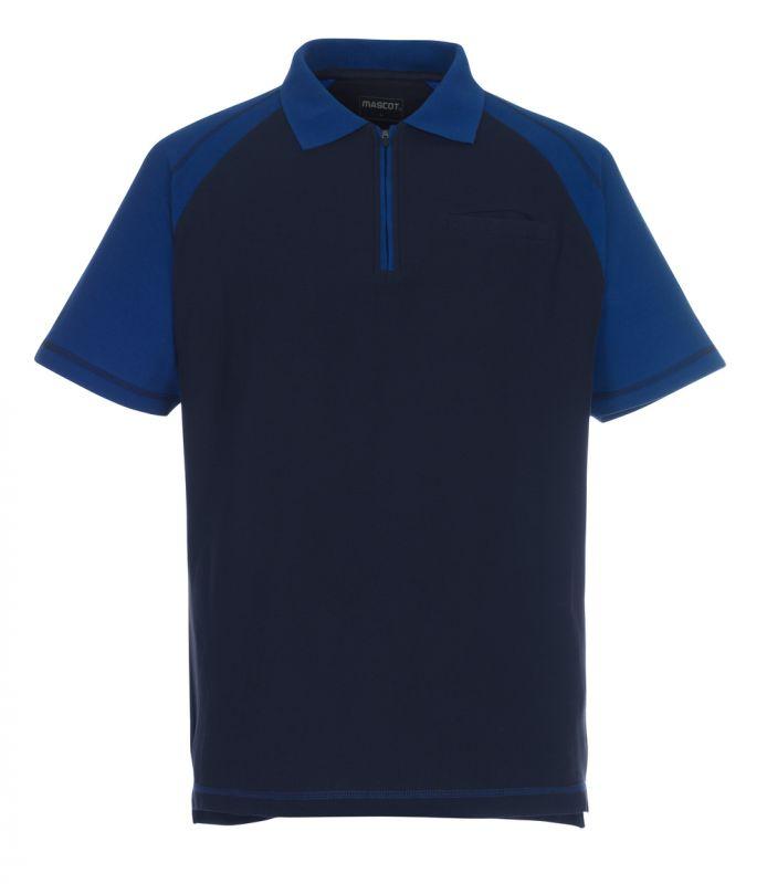 MASCOT-Workwear, Polo-Shirt, Bianco, 180 g/m², marine/kornblau