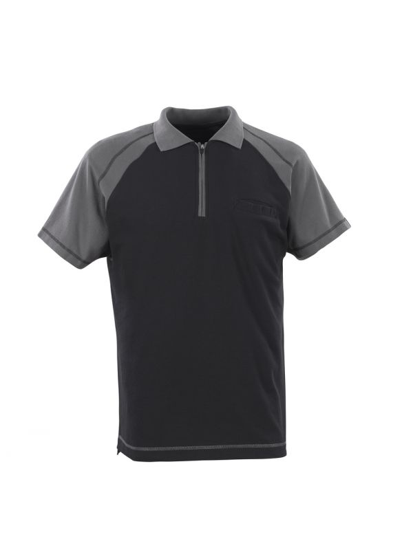 MASCOT-Workwear, Polo-Shirt, Bianco, 180 g/m², schwarz/anthrazit
