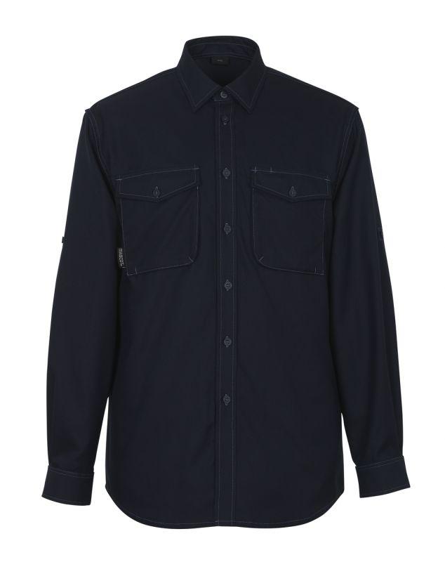 MASCOT-Hemd, Hampton, 180 g/m², schwarzblau