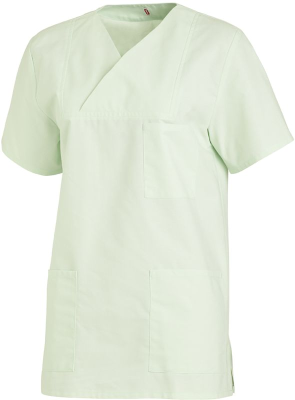 LEIBER-Schlupf-Jacke für Damen und Herren, Arbeits-Berufs-Kasack, 1/2-Arm, mint