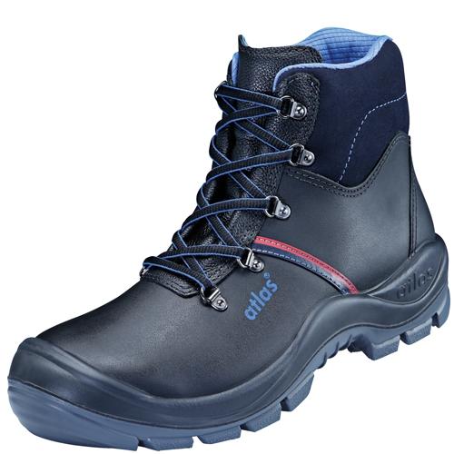 ATLAS-S3-Sicherheits-Arbeits-Berufs-Schuhe, hoch, Anatomic Bau 500, schwarz