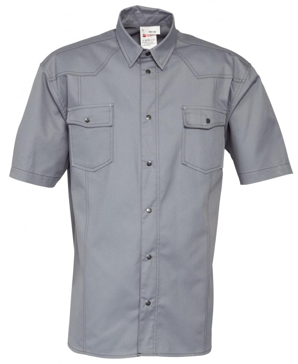 HAVEP-Workwear-Arbeits-Berufs-Hemd, Basic, Kurzarm, 195 g/m², grau