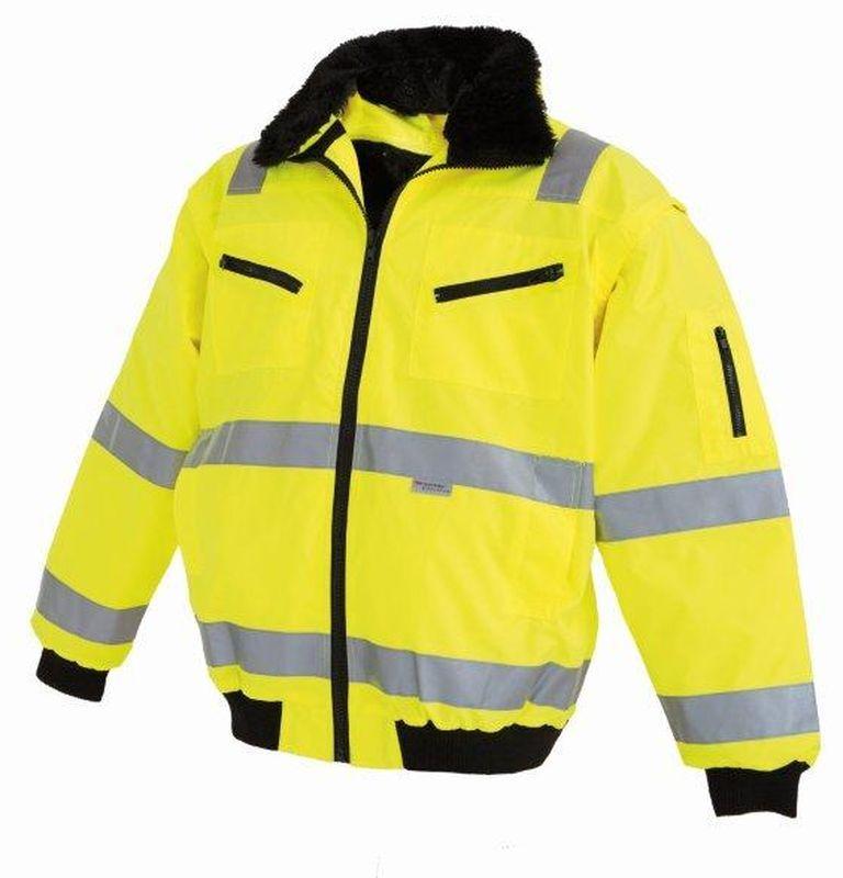 WATEX-Workwear, Warnschutz-Pilotenjacke, leuchtgelb