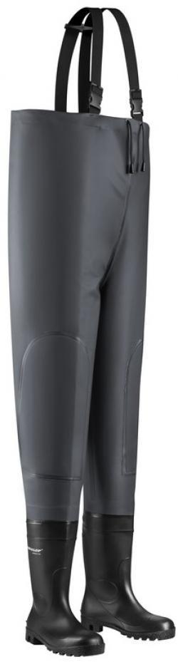 WATEX-Rainwear, Wathose, Kanalhose, grau,