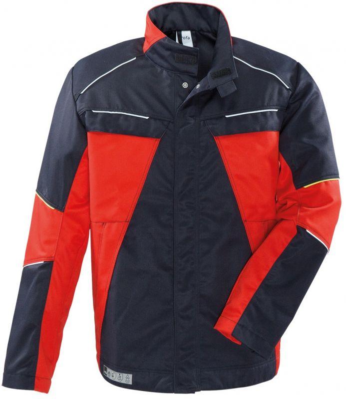 ROFA-Schweißer-Arbeits-Schutz-Berufs-Jacke, X-Line, Nomex, ca. 265 g/m², marine-rot