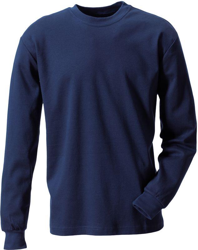 ROFA-Schweißer-Arbeits-Berufs-Hemd, T-Shirt, Flamm- und Hitzeschutz, ca. 210 g/m², marine