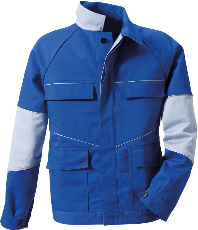 ROFA-Schweißer-Arbeits-Schutz-Berufs-Jacke, Blouson-Jacke Image 1199 - doppellagig, kornblau/hellgrau