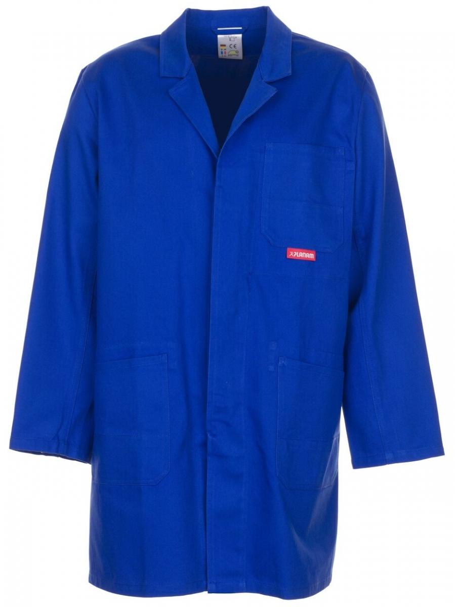 PLANAM Berufs-Mantel, Arbeits-Kittel, BW 290 kornblau