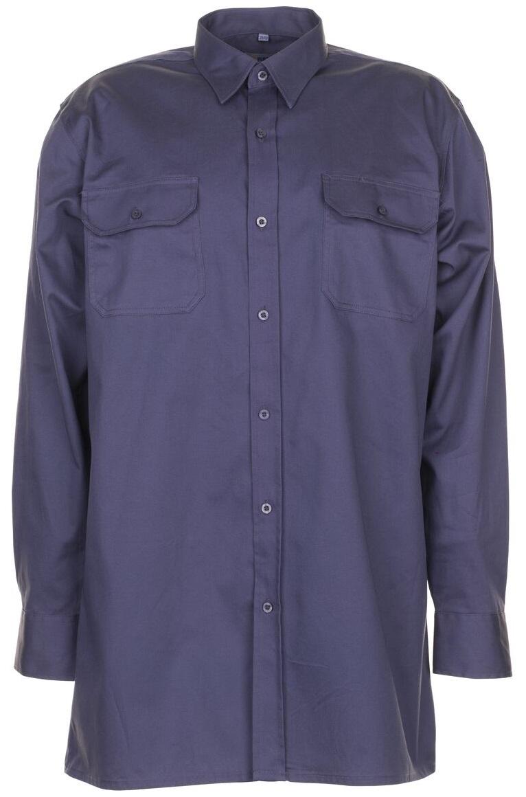 PLANAM-Twill-Köper-Arbeits-Berufs-Hemd, Langarm, 200 g/m², grau