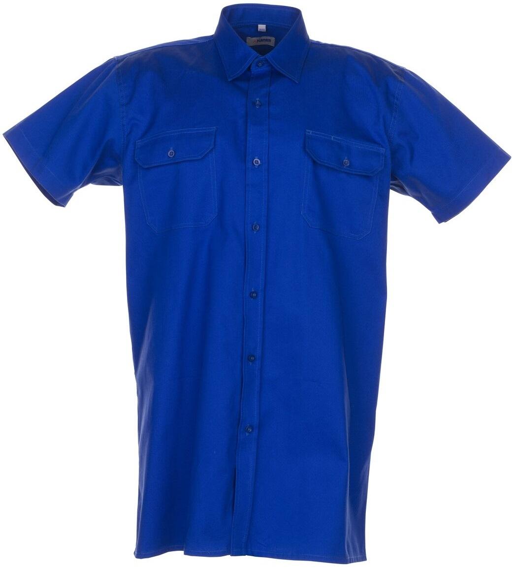 PLANAM-Twill-Köper-Arbeits-Berufs-Hemd, Viertelarm, 200 g/m², mittelblau