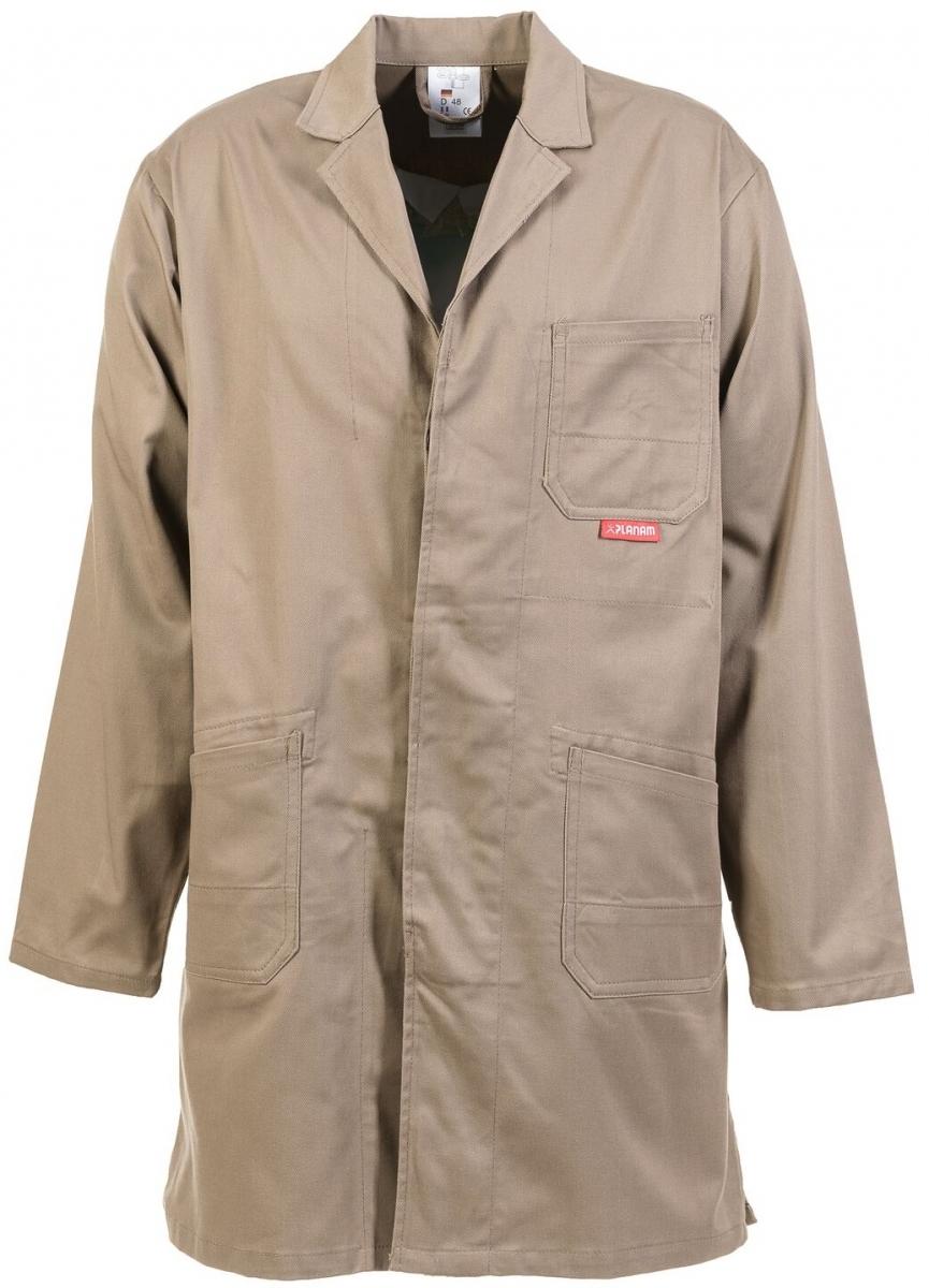 PLANAM Berufs-Mantel, Arbeits-Kittel, MG 290 khaki