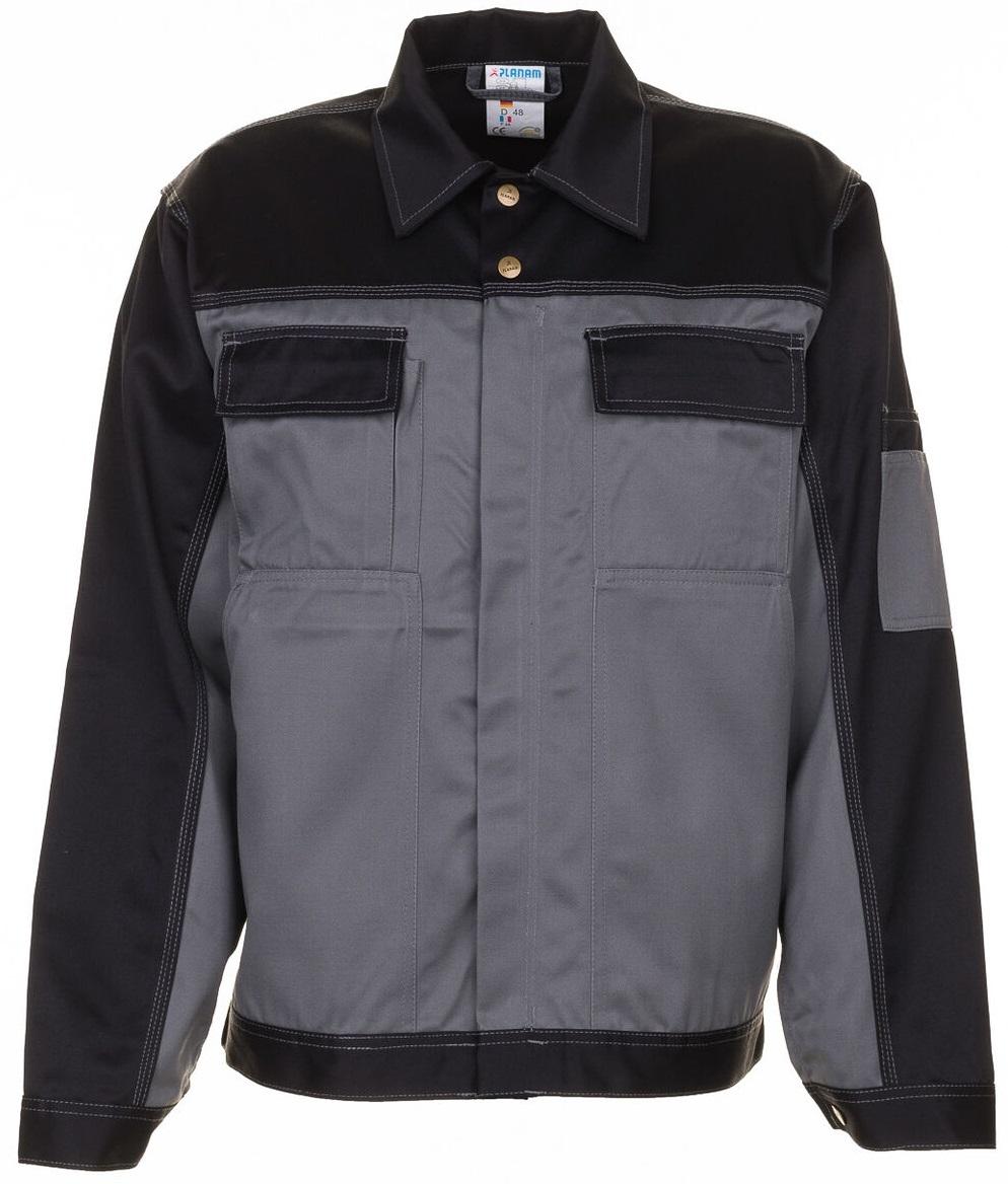 PLANAM Arbeits-Berufs-Bund-Jacke, TRISTEP, MG 290, grau/schwarz