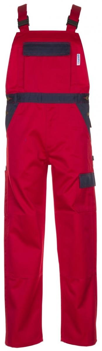 PLANAM-Arbeits-Berufs-Latz-Hose, TRISTEP, MG 320, rot/marine