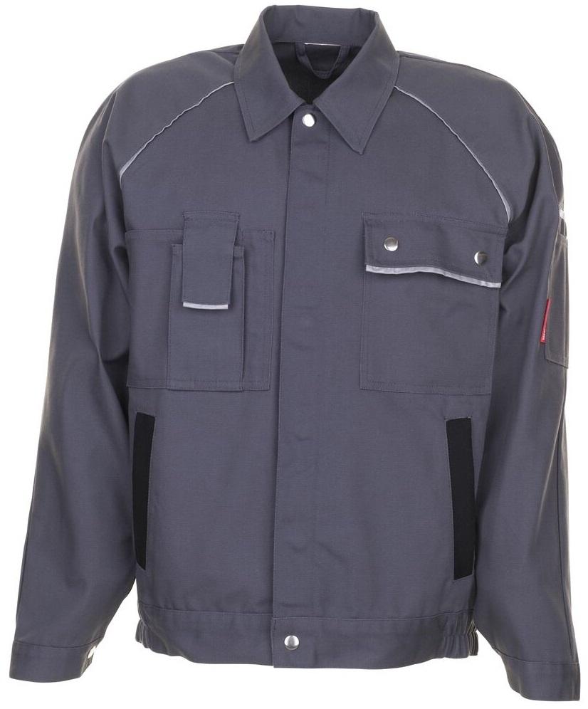 PLANAM Arbeits-Berufs-Bund-Jacke, CANVAS 320,  grau/schwarz