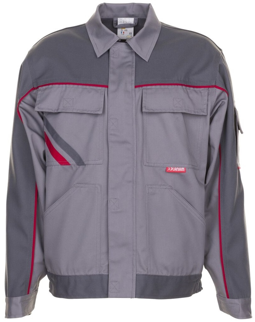 PLANAM Bundjacke, Arbeits-Berufs-Jacke, Highline, 285 g/m², zink/schiefer/rot