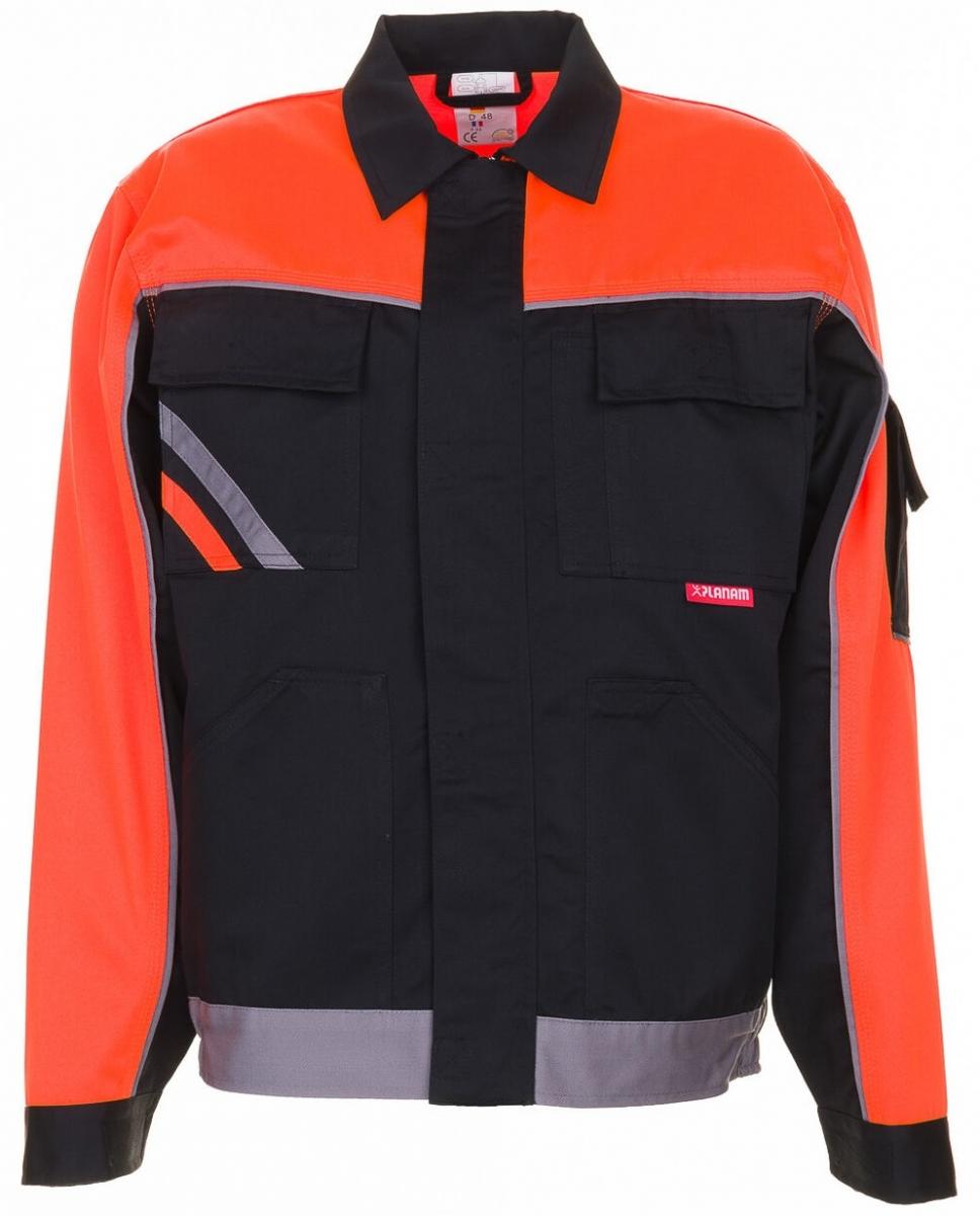 PLANAM Arbeits-Berufs-Bund-Jacke, VISLINE, MG 285, schwarz/orange/zink