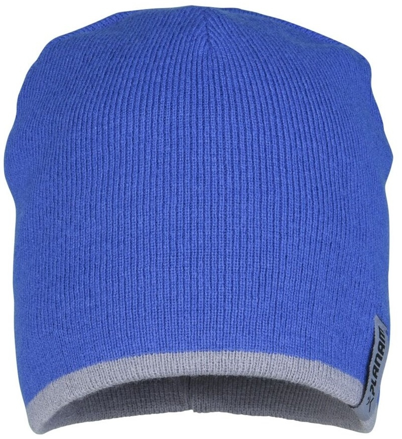 PLANAM Winter-Strick-Mütze, kornblau/zink
