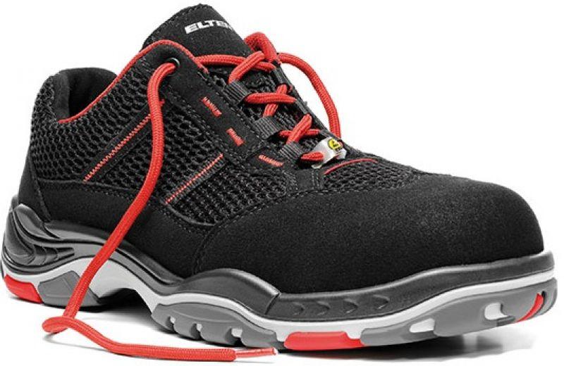 brand new 66a38 19b47 ELTEN-S1-Sicherheits-Arbeits-Berufs-Schuhe, Halbschuhe, MOTION AIR ESD,  schwarz/rot