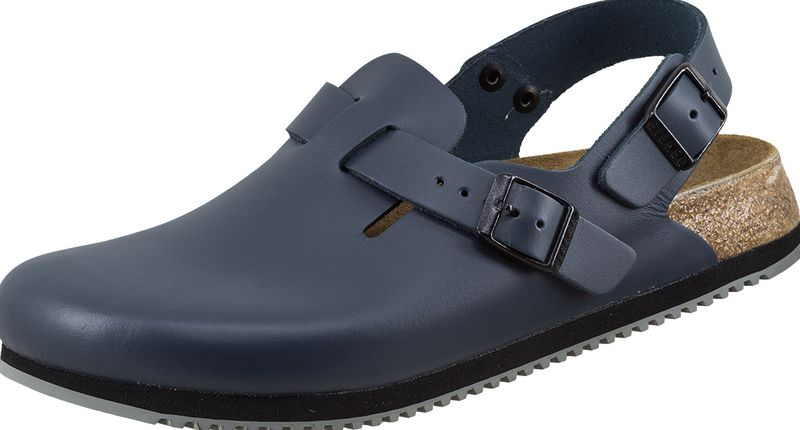birkenstock leder pantoletten hinten mit riemen tokio 061154 blau. Black Bedroom Furniture Sets. Home Design Ideas