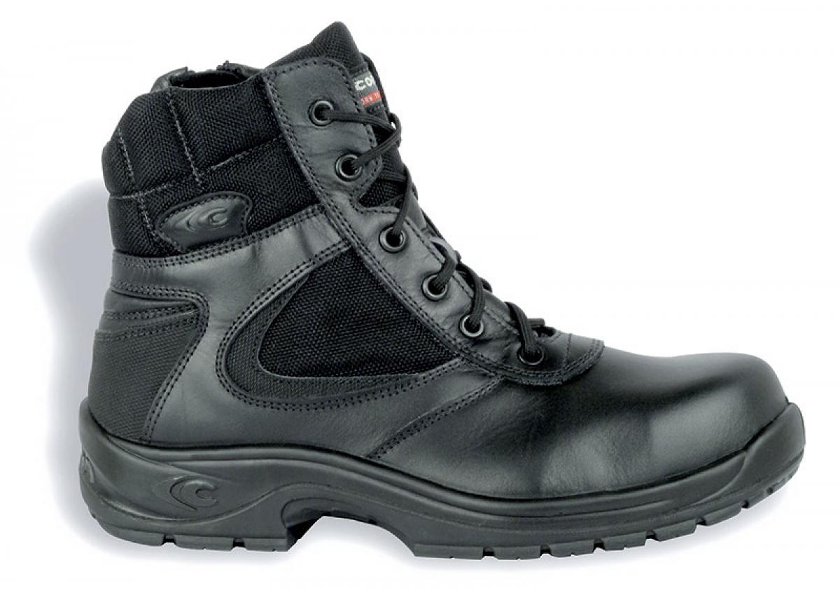 COFRA-POLICE S3 HRO SRC, Sicherheits-Arbeits-Berufs-Schuhe, Hochschuhe, schwarz
