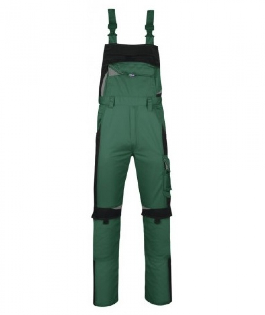 PKA Arbeits-Berufs-Latz-Hose Bestwork, MG300, grün/schwarz