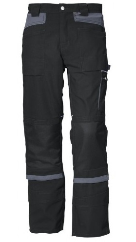 PKA-Arbeits-Berufs-Bund-Hose, Threeline De Luxe, MG330, schwarz/grau