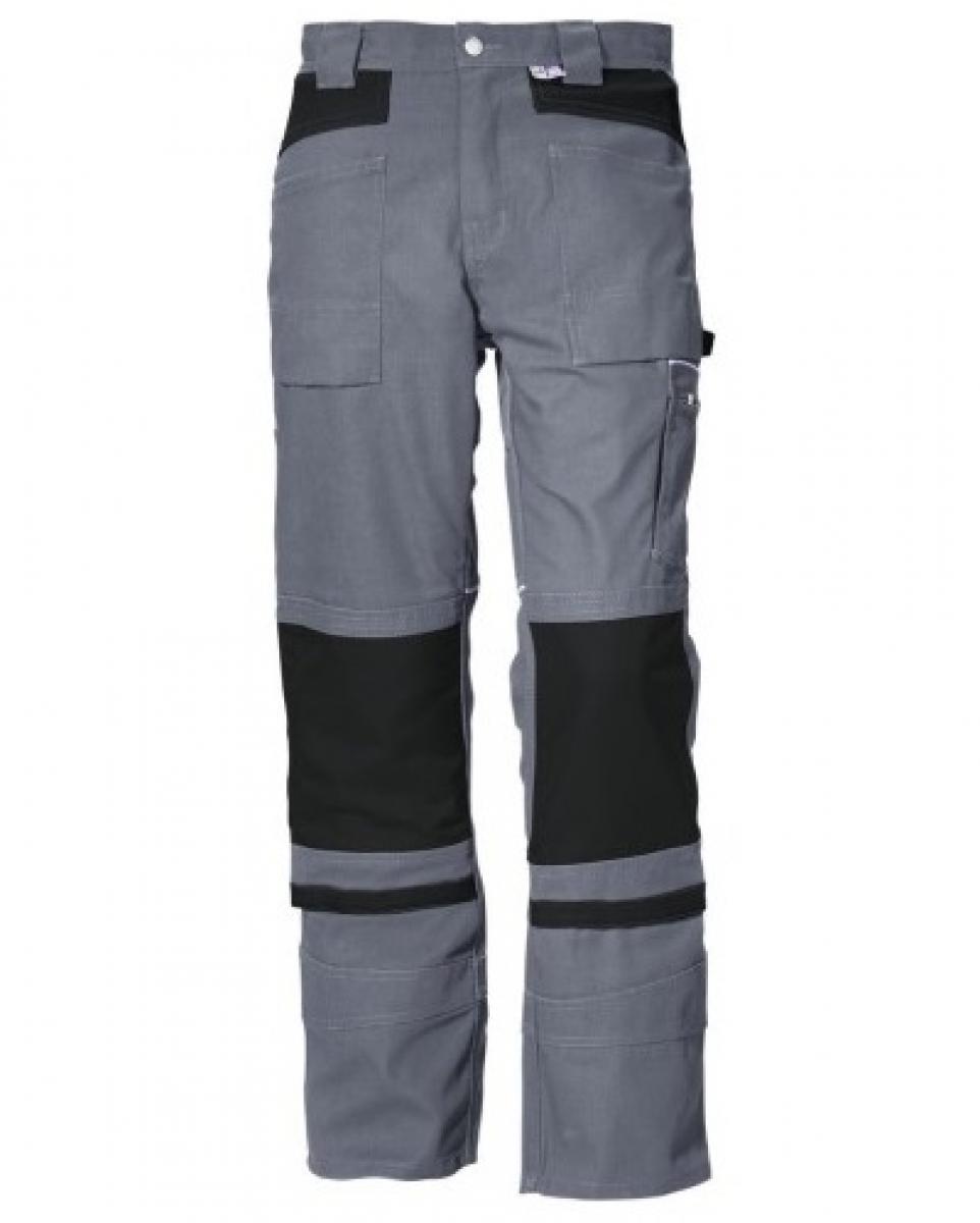 PKA-Arbeits-Berufs-Bund-Hose, Threeline De Luxe, MG330, grau/schwarz