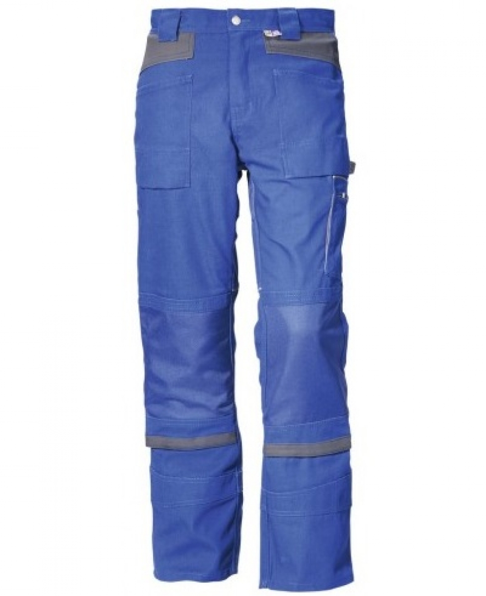 PKA-Arbeits-Berufs-Bund-Hose, Threeline De Luxe, 330g/qm, kornblau/grau