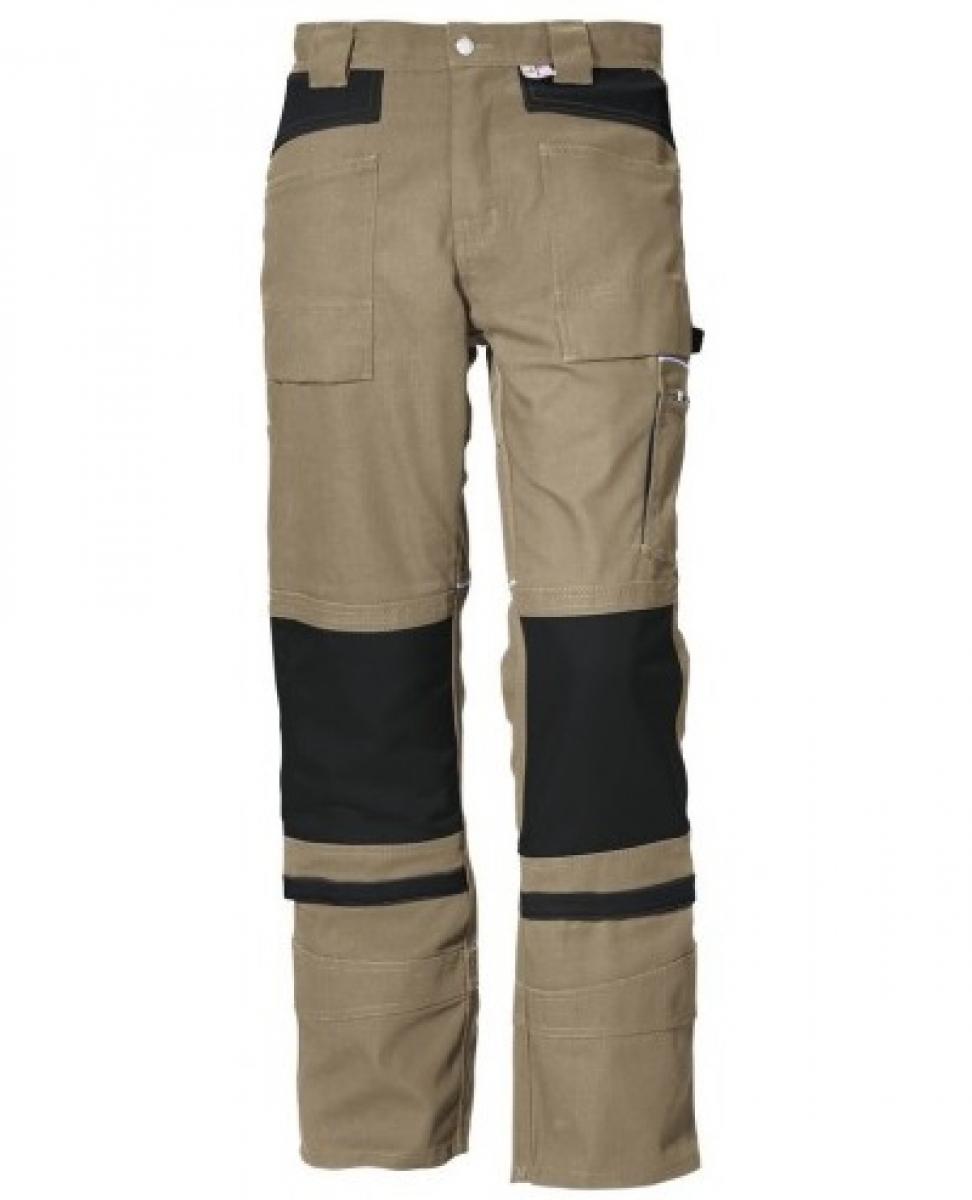 PKA-Arbeits-Berufs-Bund-Hose, Threeline De Luxe, MG330, khaki/schwarz