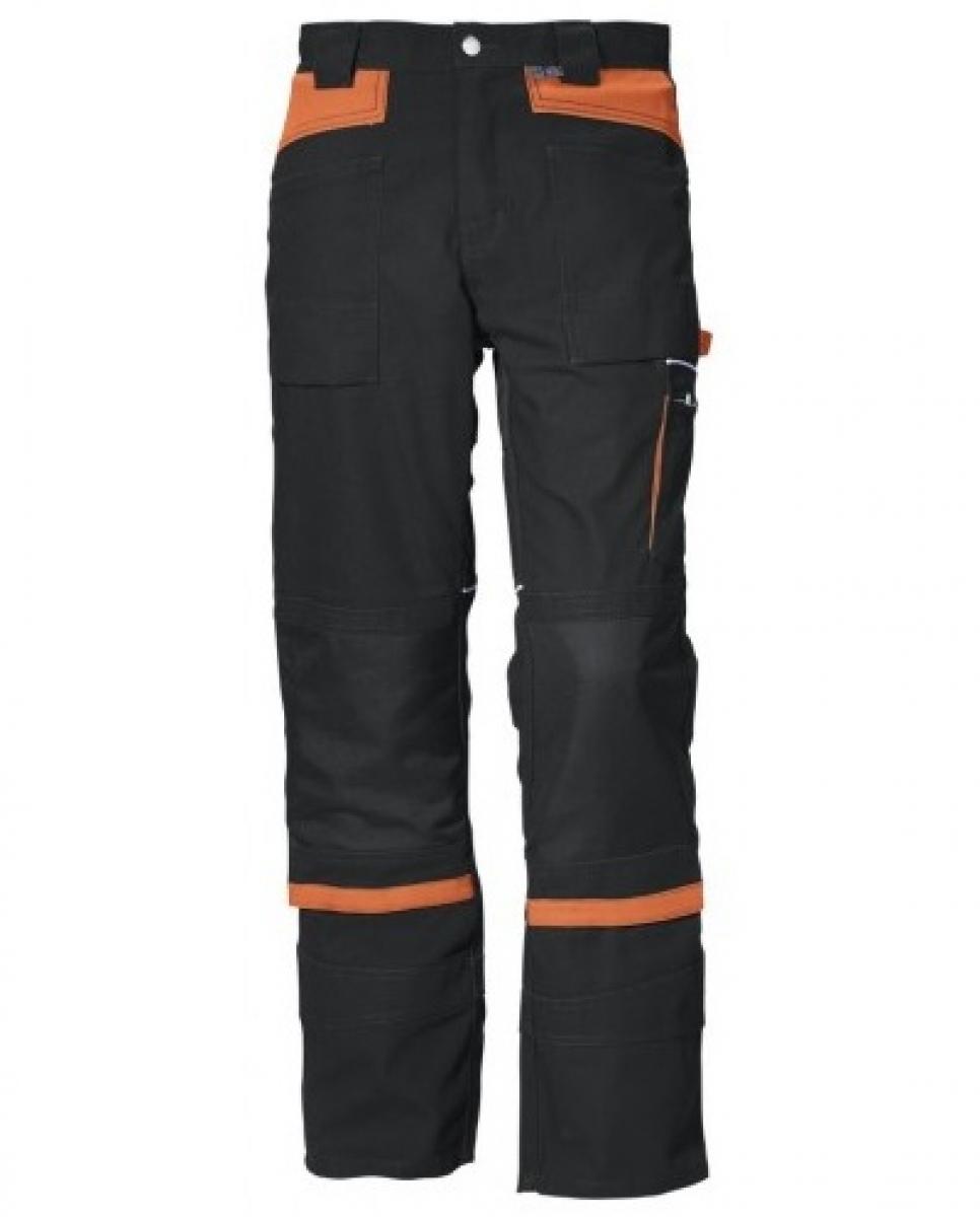 PKA-Arbeits-Berufs-Bund-Hose, Threeline De Luxe, MG330, schwarz/orange