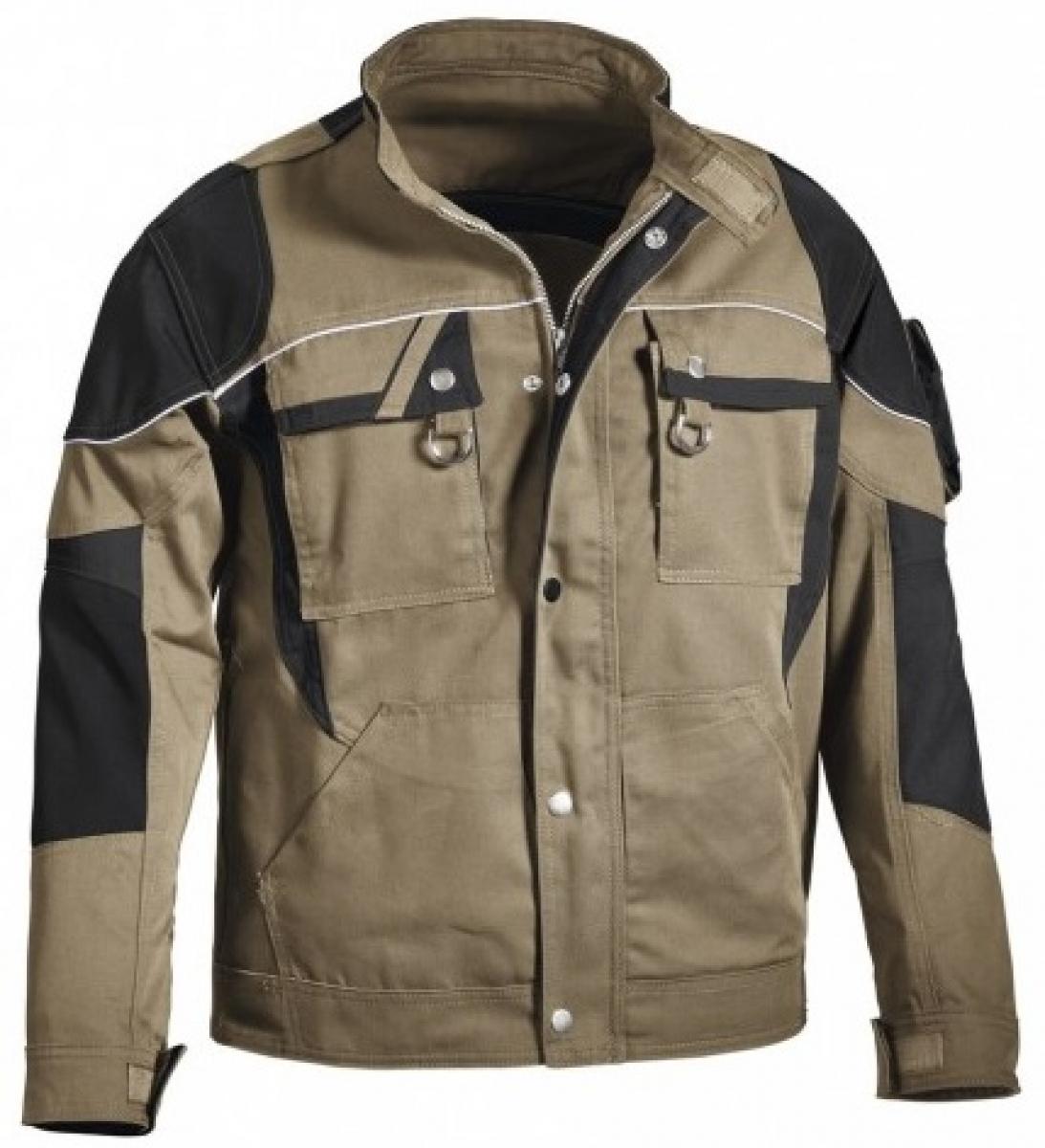PKA-Arbeits-Berufs-Bund-Jacke, Blouson, Threeline De Luxe, MG330, khaki/schwarz