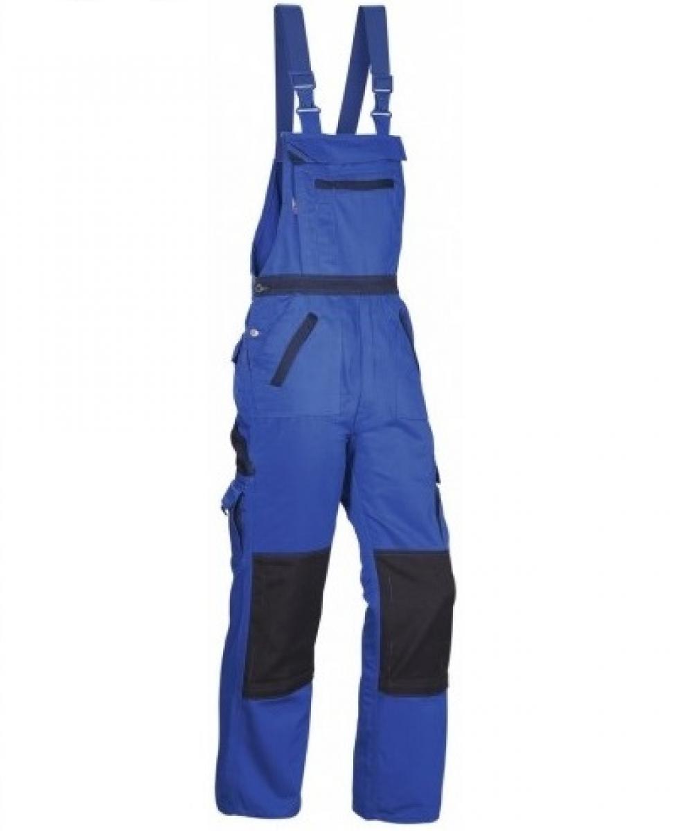 PKA Arbeits-Berufs-Latz-Hose Threeline Image, MG330, kornblau/hydronblau