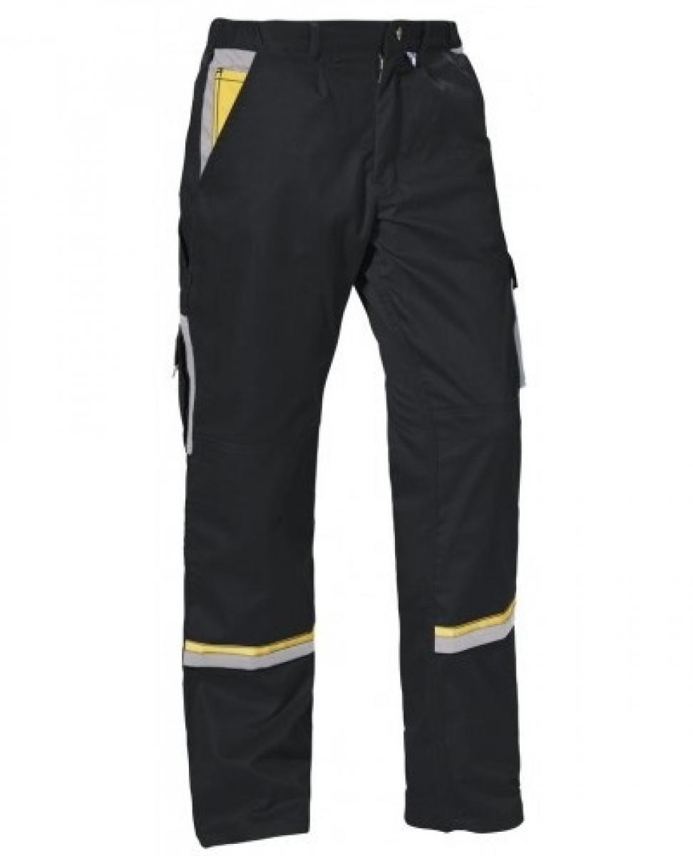 PKA-Arbeits-Berufs-Bund-Hose, Magic, MG270, schwarz/grau/gelb