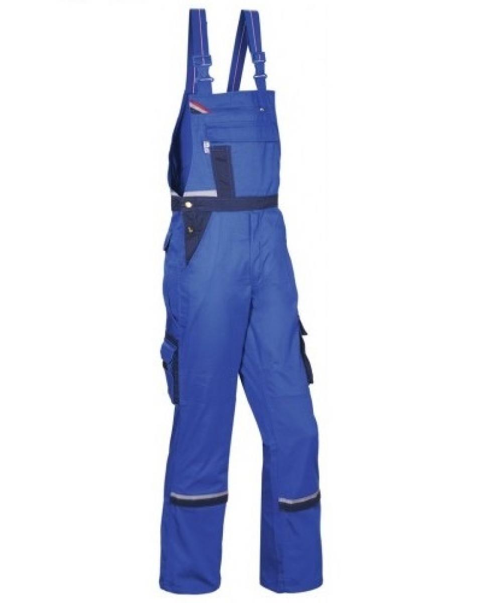 PKA Arbeits-Berufs-Latz-Hose Magic, MG270, kornblau/hydronblau/rot/grau