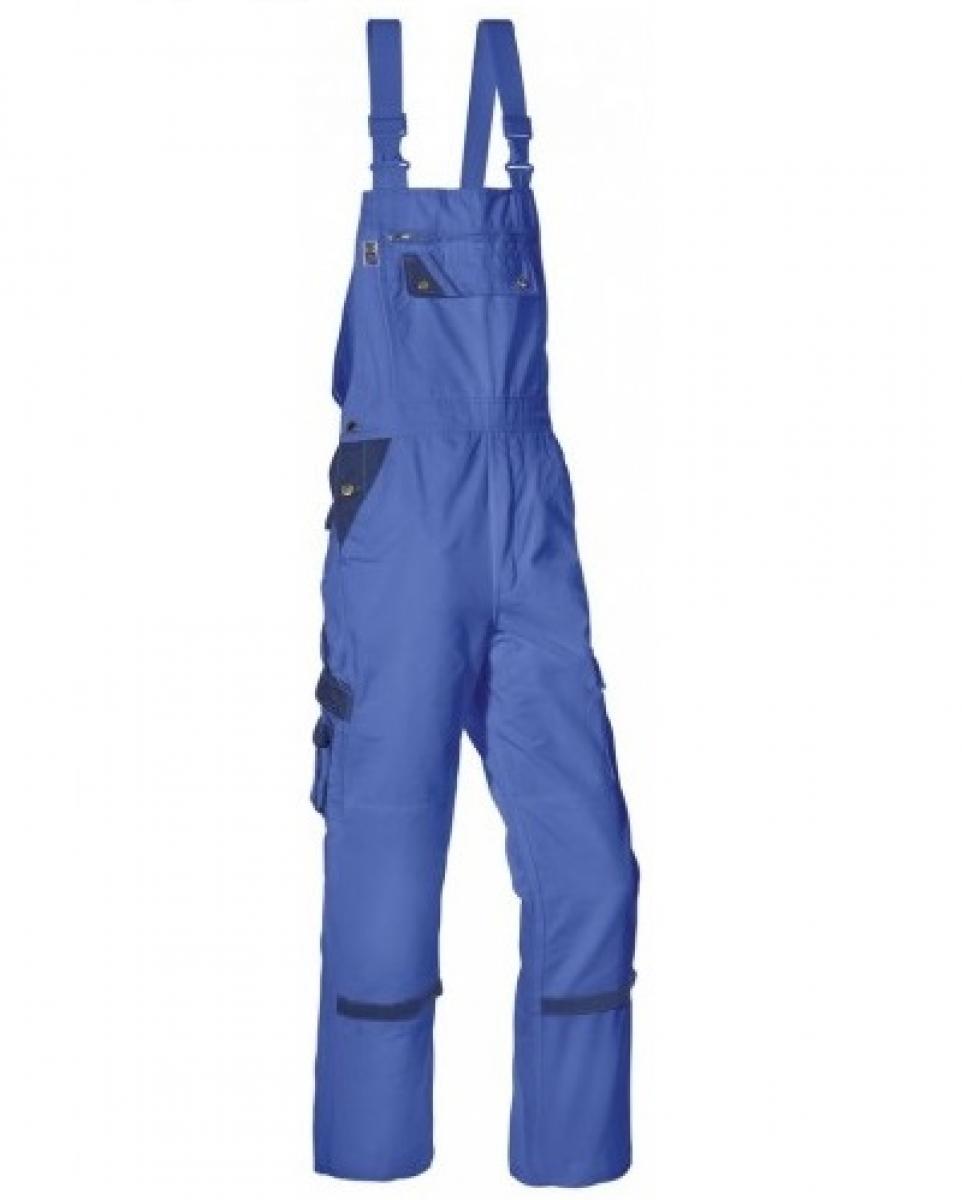 PKA Arbeits-Berufs-Latz-Hose Threeline Perfekt, MG320, kornblau