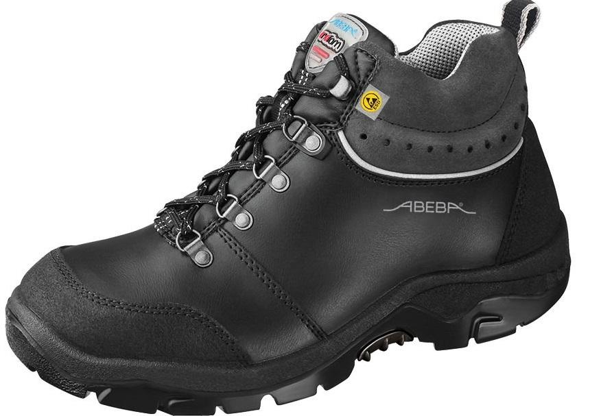 ABEBA Anatom S2 Damen u. Herren Sicherheits Arbeits Berufs Schuhe, hoch, Schnürstiefel, ESD, schwarz