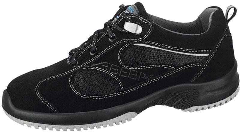 ABEBA Uni6 O1 Damen und Herren Arbeits Berufs Schuhe, ESD, schwarz