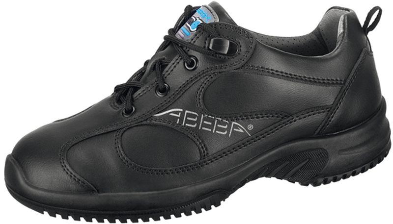 ABEBA Uni6 O2 Damen und Herren Arbeits Berufs Schuhe, ESD, schwarz