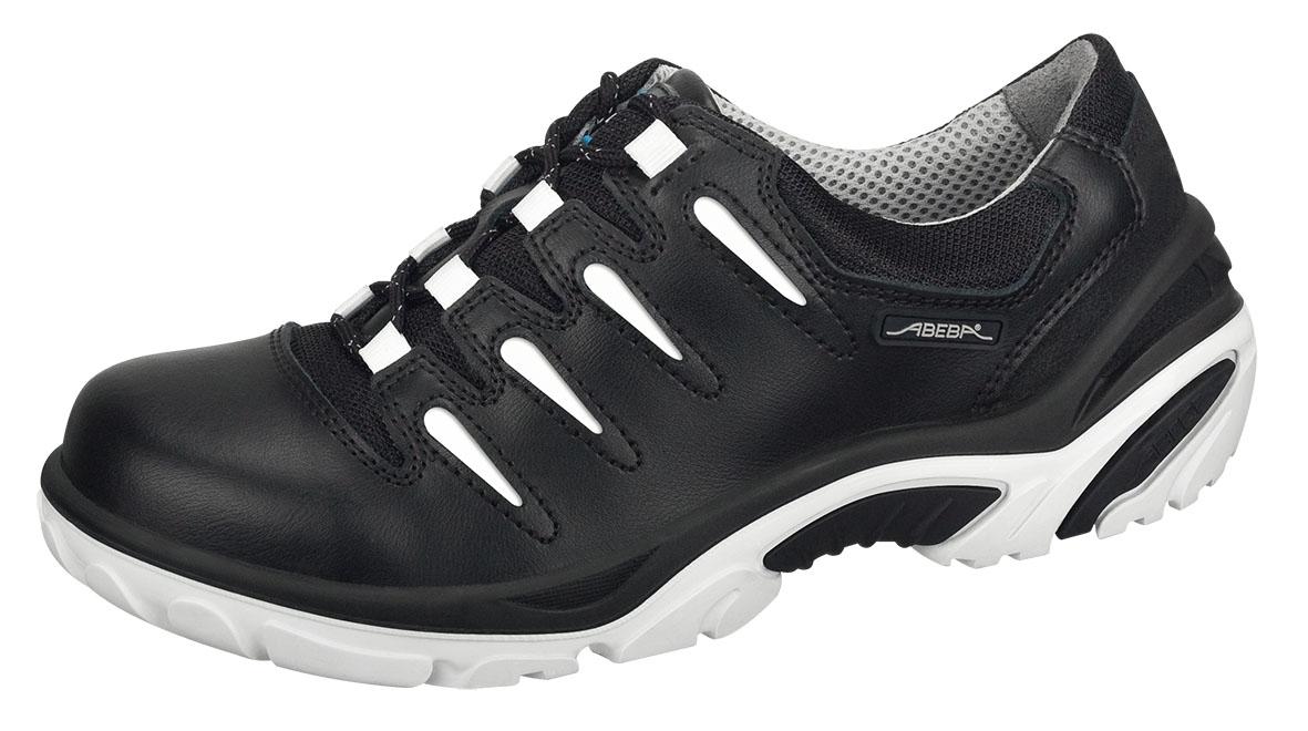 ABEBA Crawler Alu S1P Damen u. Herren Sicherheits Arbeits Berufs Schuhe, Halbschuhe, schwarzweiß
