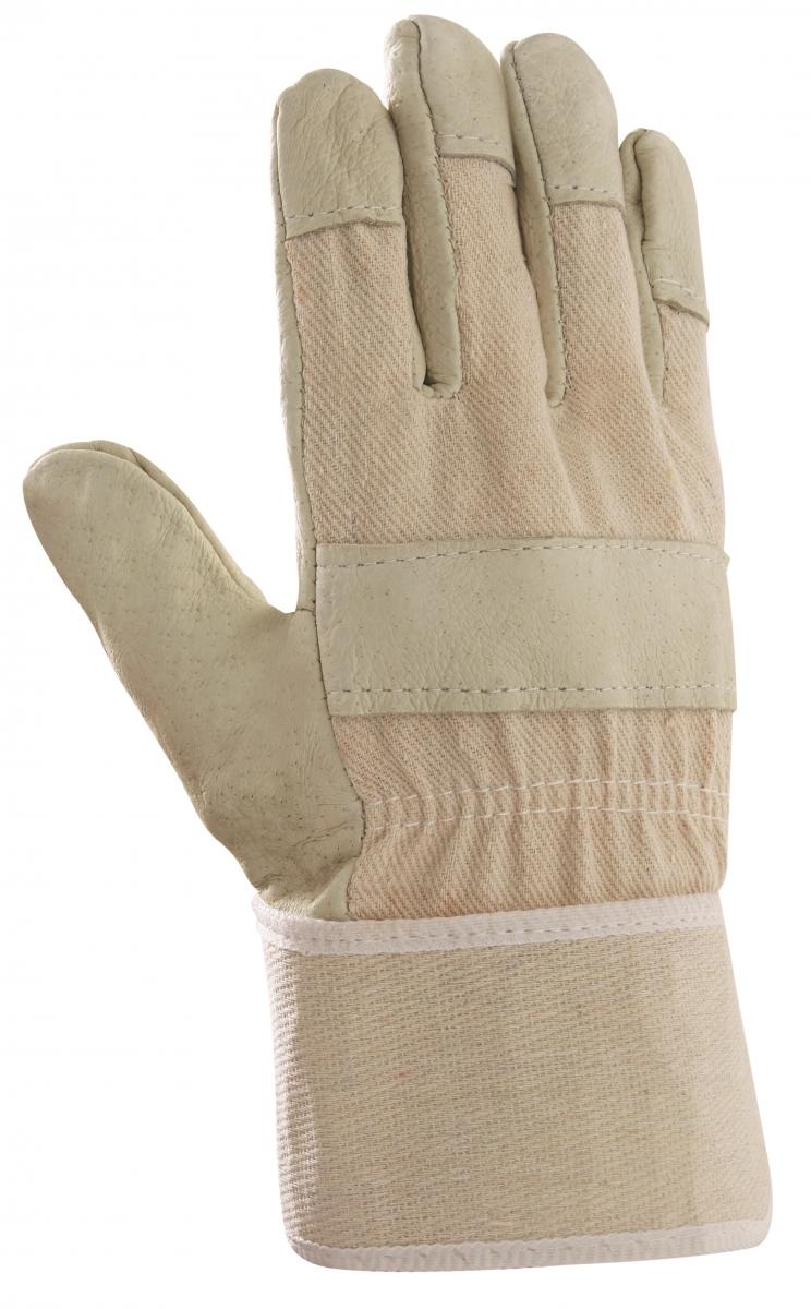 BIG-Schweinsvoll-Leder-Arbeits-Handschuhe, 88 PAWA, gelb, weißer Drell