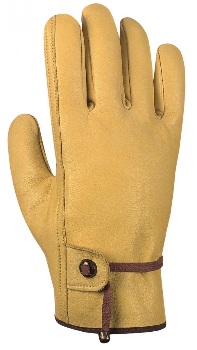 BIG-Rind-Nappa-Leder-Offiziers-Arbeits-Handschuhe, gelb